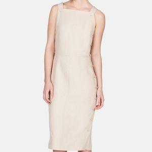 NEW Altuzarra Beige Linen Dress 34 Button Up